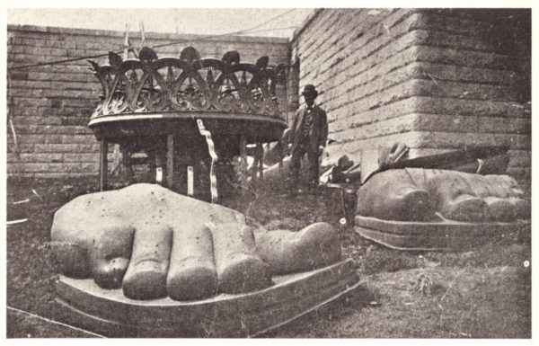 foot of the Statue of Liberty