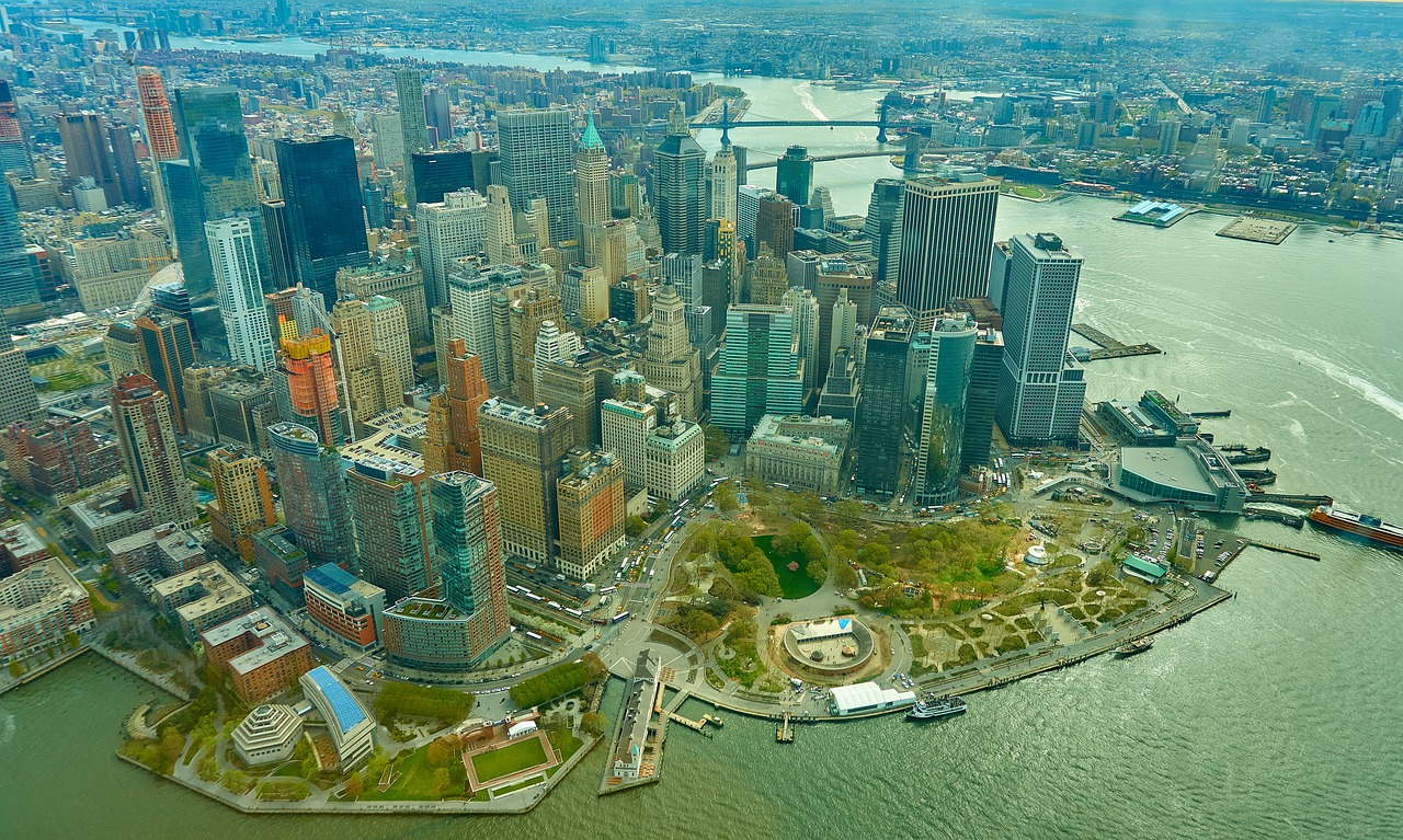 Lower Manhattan Birds Eye View