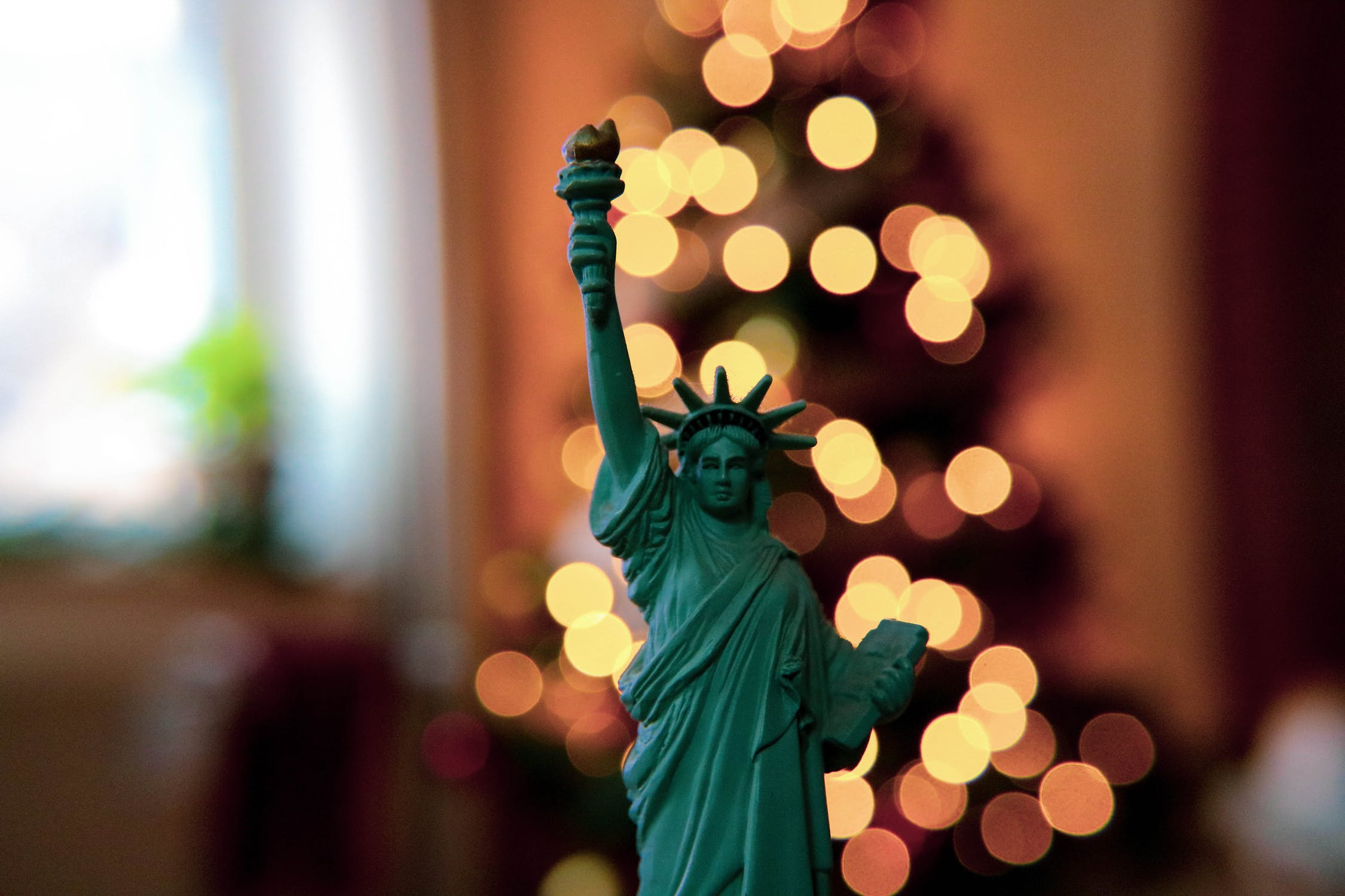 Miniature Statue of Liberty with Lights