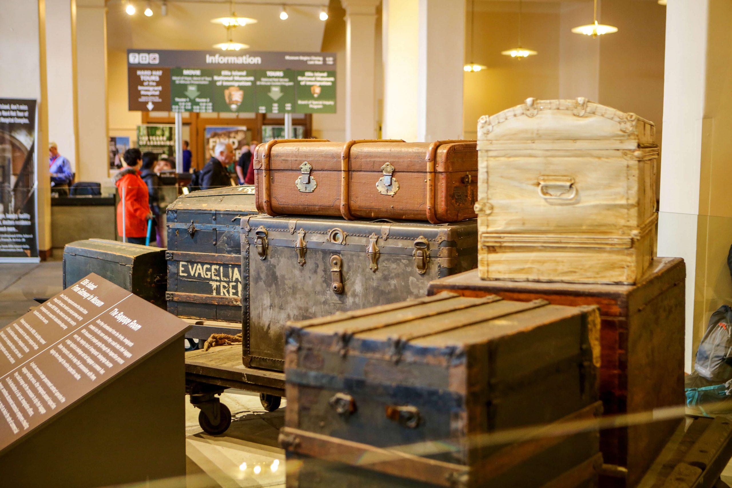 Baggage Room at the Ellis Island museum