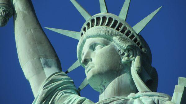 Statue of Liberty face up close