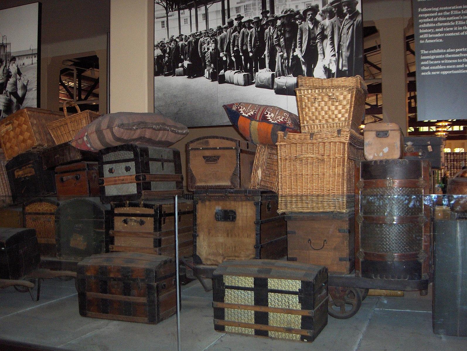 Baggage room, ellis island