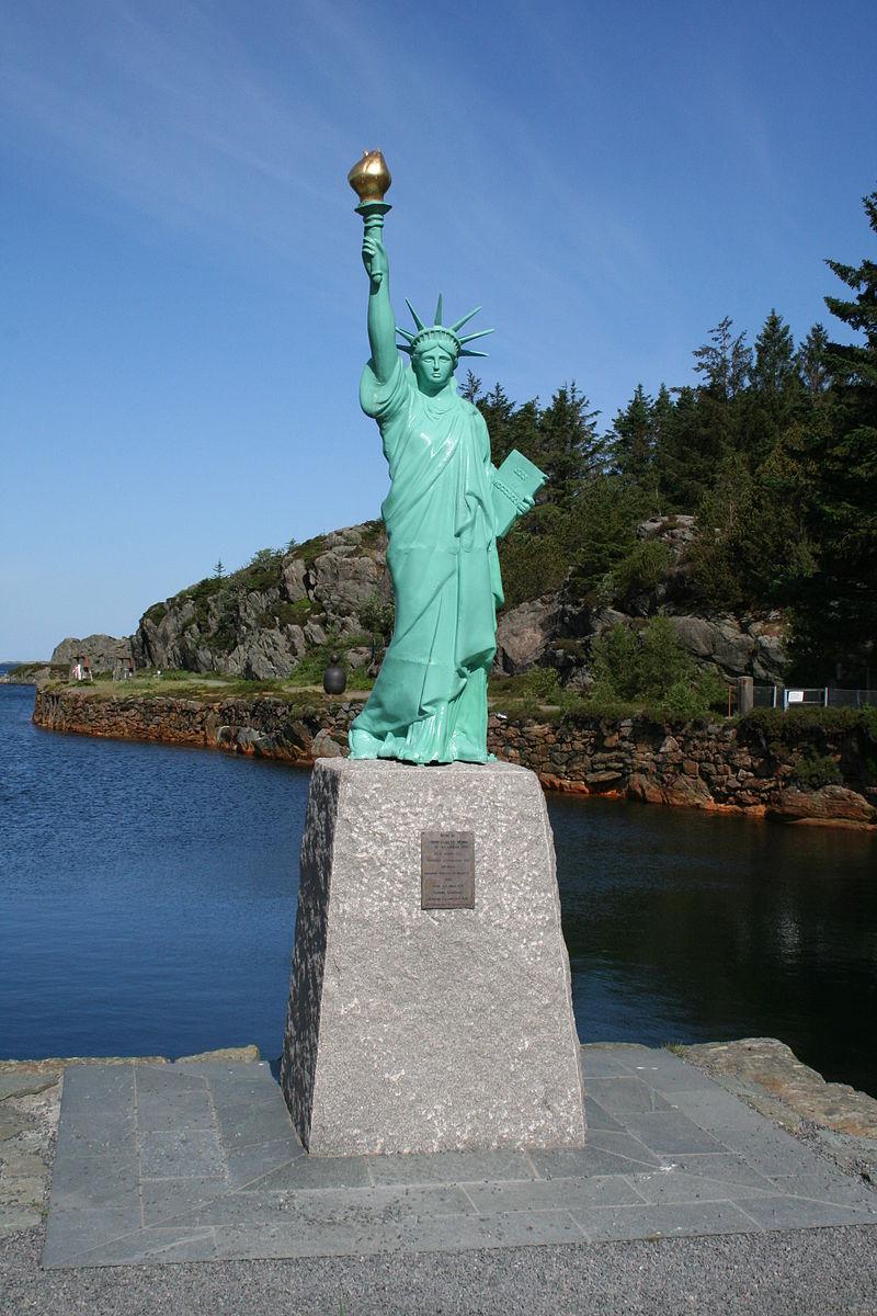 Statue of Liberty replica in Norway