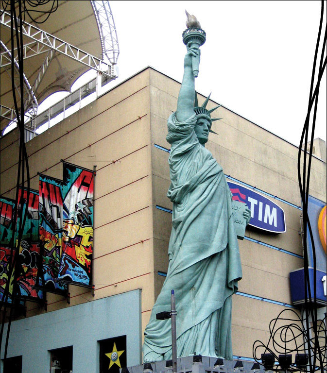 Statue of Liberty replica in Brazil