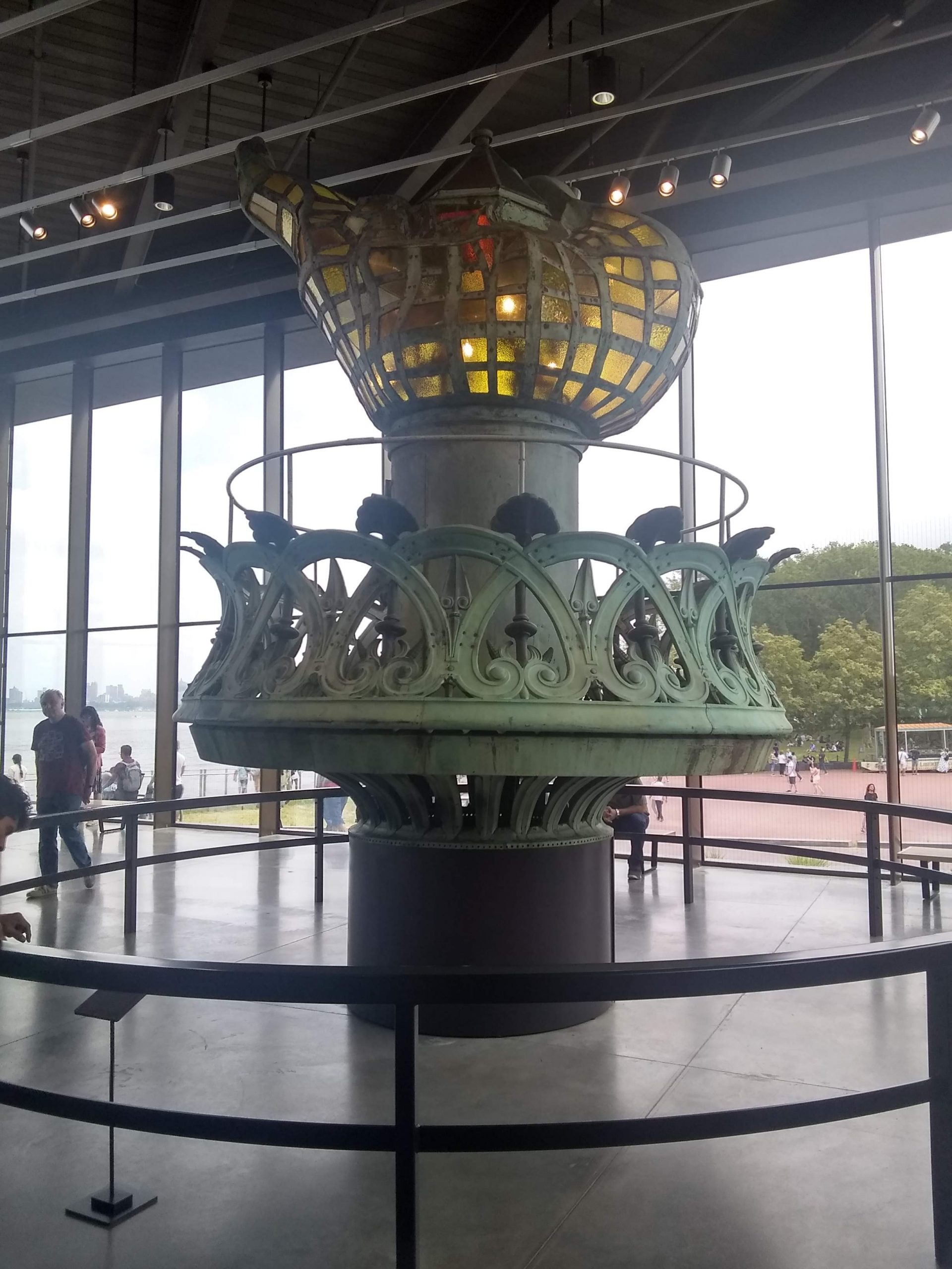 Old torch in Liberty Island Museum