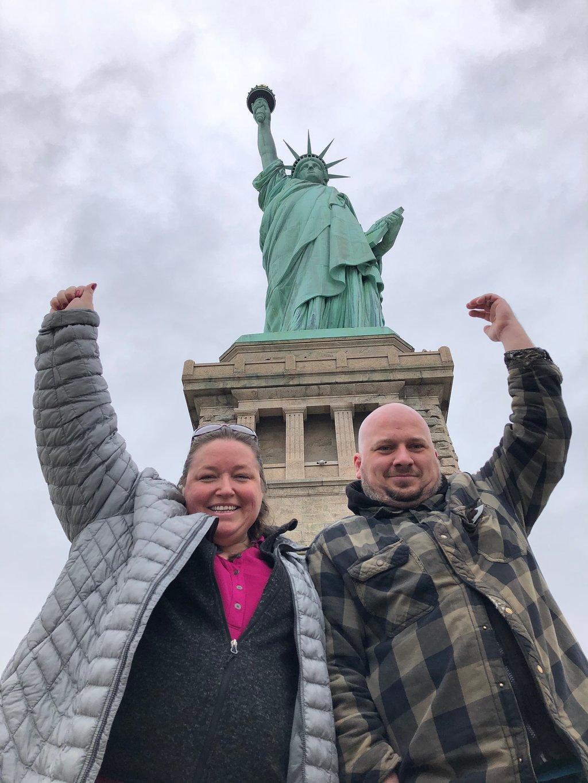 Statue of Liberty group photo