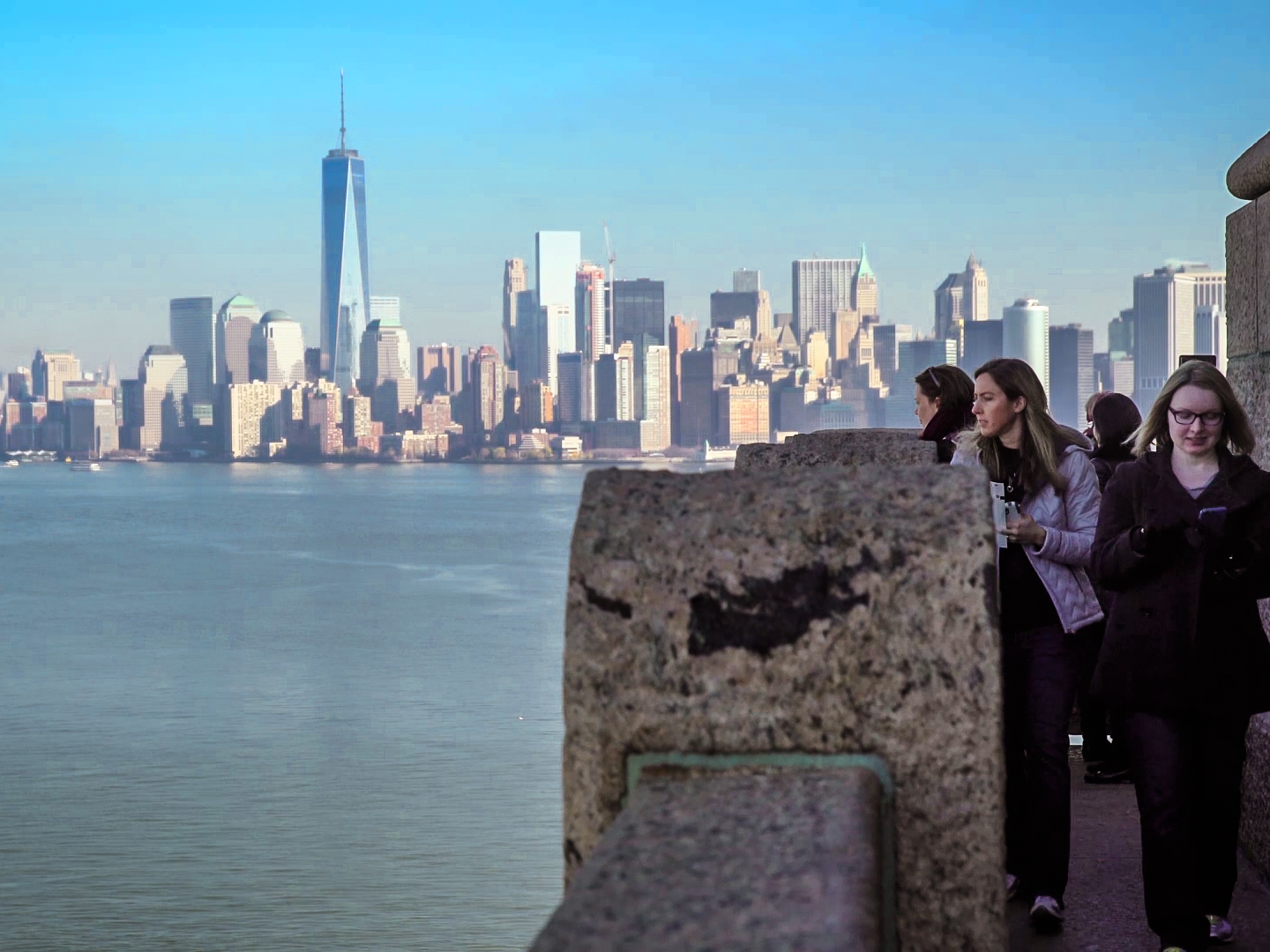 View from the pedestal at the Statue of Liberty