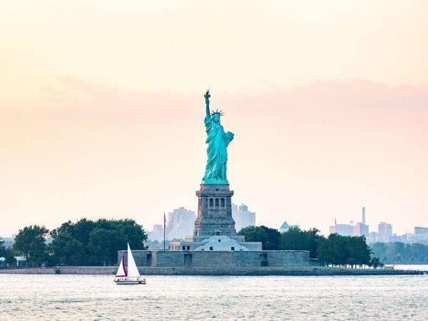 Statue of Liberty from NY harbor